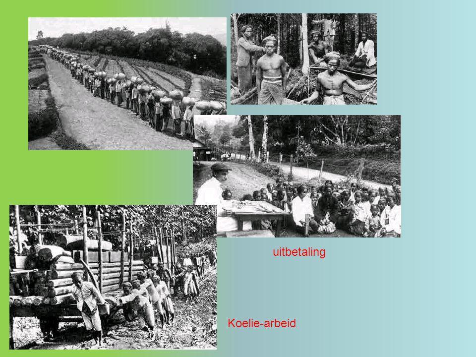 uitbetaling Koelie-arbeid