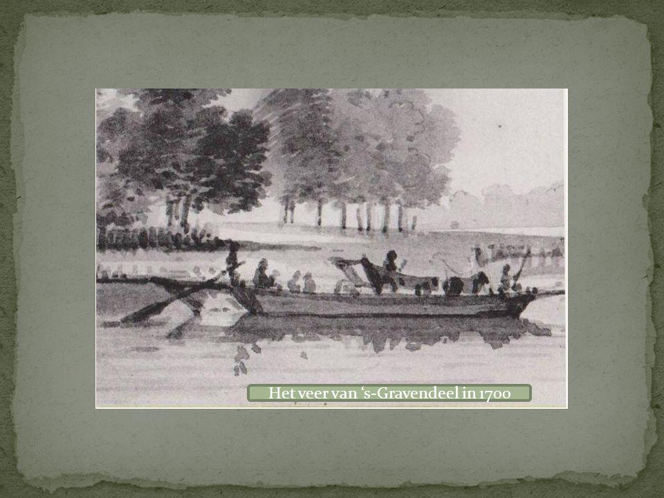 Het veer van 's-Gravendeel in 1700