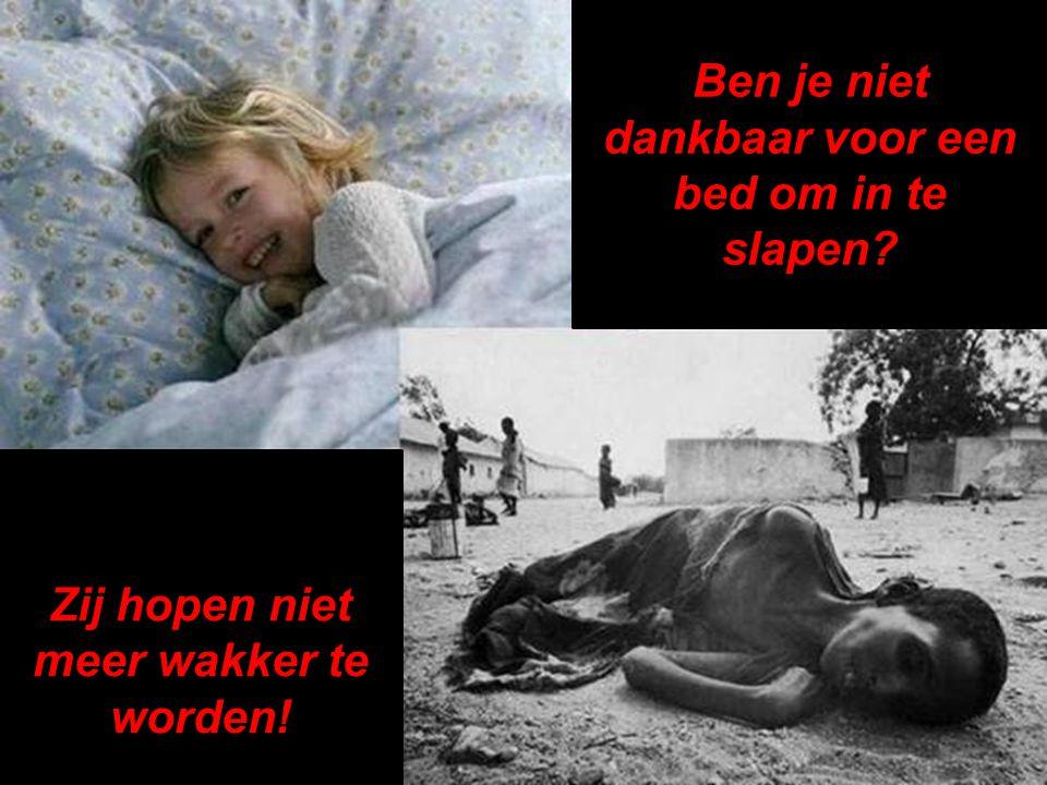 Ben je niet dankbaar voor een bed om in te slapen? Zij hopen niet meer wakker te worden!