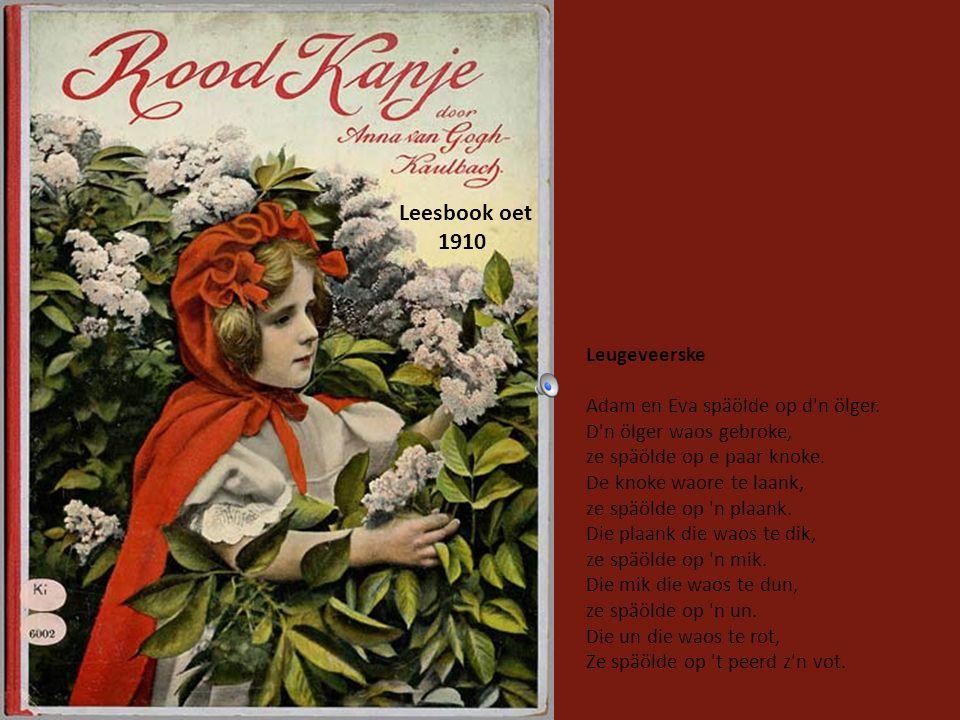 Leesbook oet 1910 Leugeveerske Adam en Eva späölde op d n ölger.