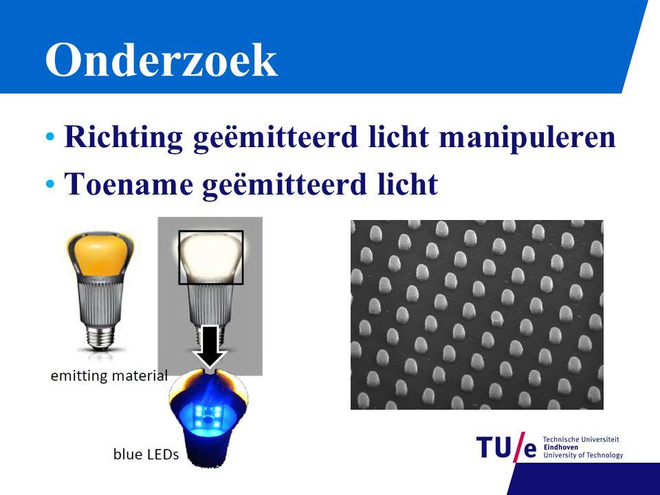 Onderzoek Richting geëmitteerd licht manipuleren Toename geëmitteerd licht