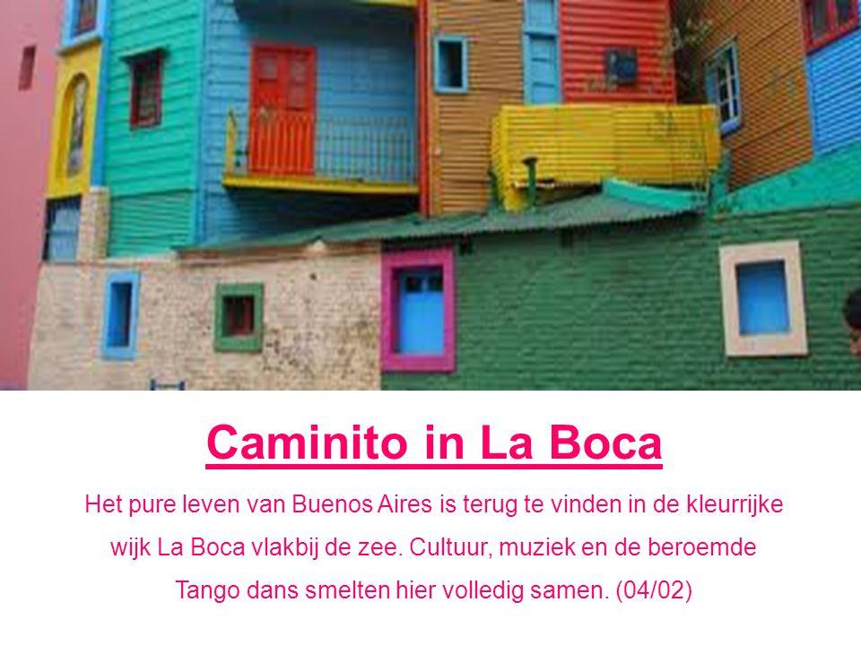 Caminito in La Boca Het pure leven van Buenos Aires is terug te vinden in de kleurrijke wijk La Boca vlakbij de zee.