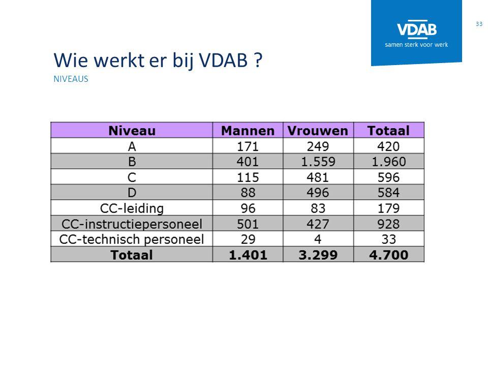 Wie werkt er bij VDAB ? NIVEAUS 33