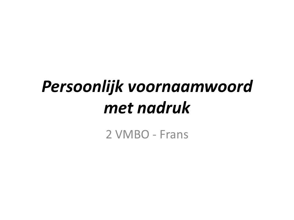 Wat is een persoonlijk voornaamwoord.