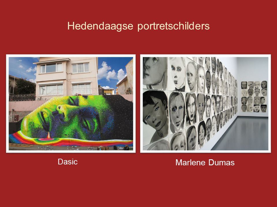 Hedendaagse portretschilders Dasic Marlene Dumas