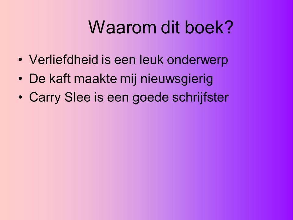 De schrijfster: Carry Slee Geboren 1 juli 1949 in Amsterdam 2 dochters waaraan ze verhalen over keetje karnemelk vertelde, die later in de bobo verschenen Vooral kinderboeken 1999 Kinderboekenweekgeschenk geschreven Bikkels