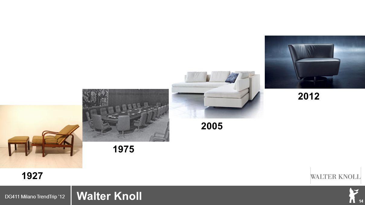 DG411 Milano TrendTrip '12 Klik om het opmaakprofiel te bewerken 14 Walter Knoll 1927 1975 2005 2012
