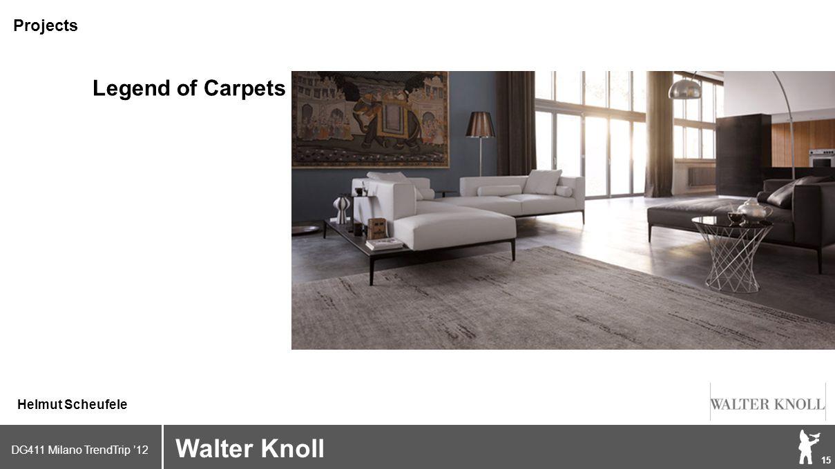 DG411 Milano TrendTrip '12 Klik om het opmaakprofiel te bewerken 15 Brand logo (name) Walter Knoll Helmut Scheufele Projects Legend of Carpets