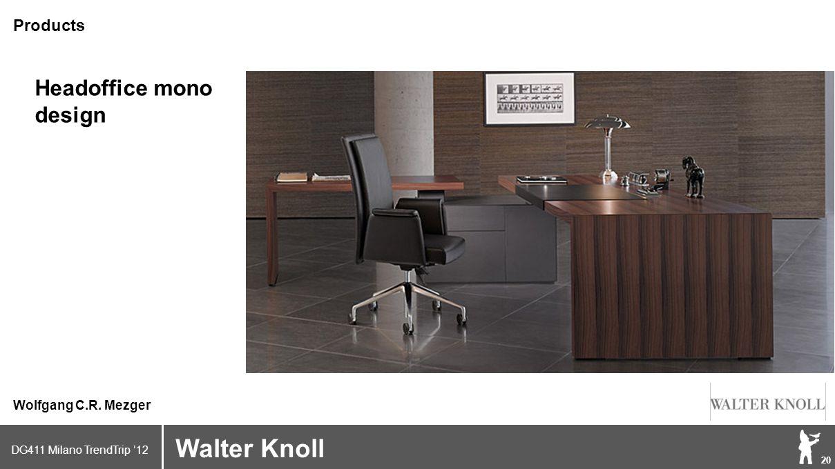 DG411 Milano TrendTrip '12 Klik om het opmaakprofiel te bewerken 20 Brand logo (name) Walter Knoll Wolfgang C.R.