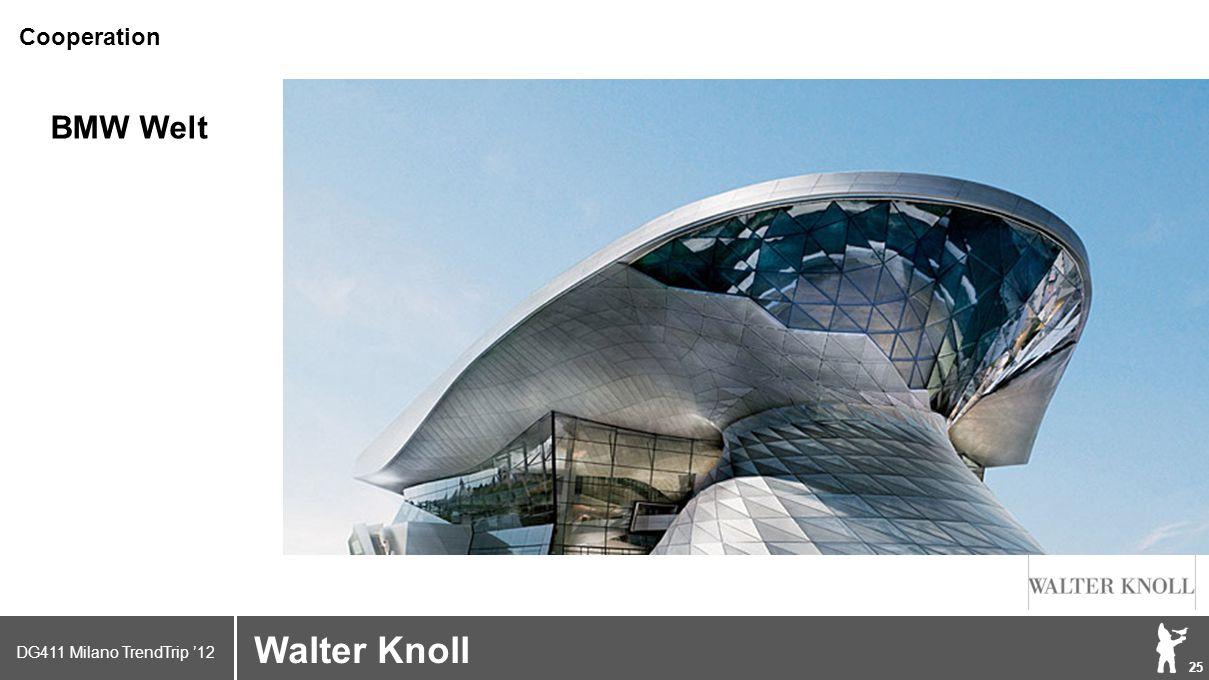 DG411 Milano TrendTrip '12 Klik om het opmaakprofiel te bewerken 25 Brand logo (name) Walter Knoll Cooperation BMW Welt
