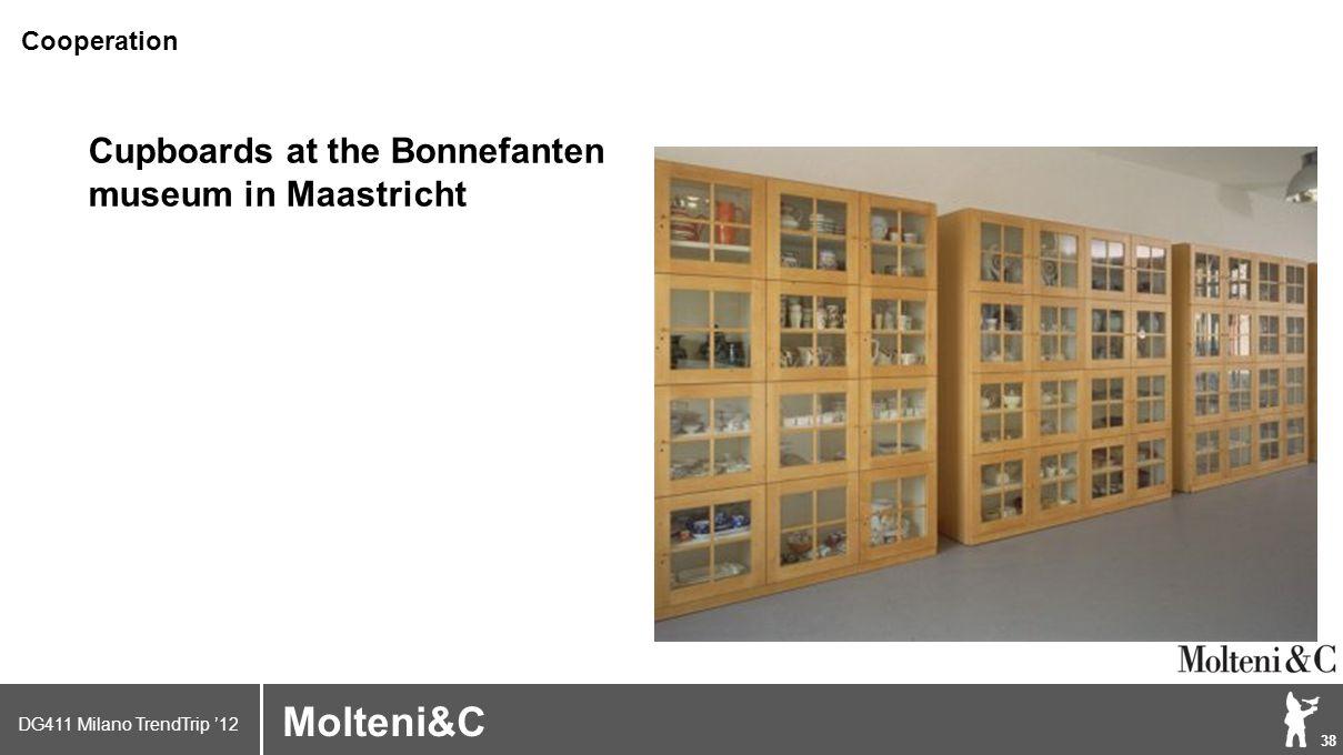 DG411 Milano TrendTrip '12 Klik om het opmaakprofiel te bewerken 38 Brand logo (name) Molteni&C Cupboards at the Bonnefanten museum in Maastricht Cooperation