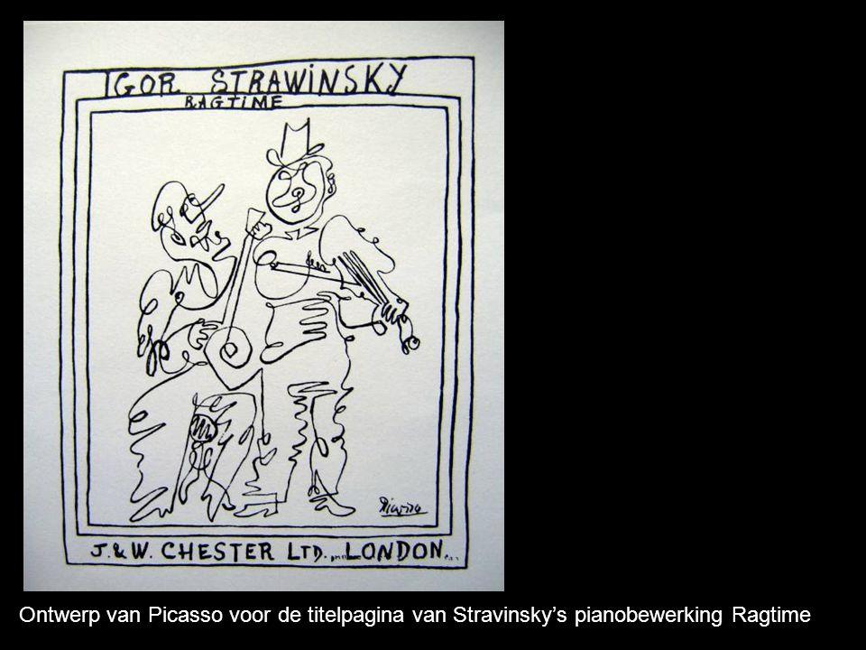 Ontwerp van Picasso voor de titelpagina van Stravinsky's pianobewerking Ragtime