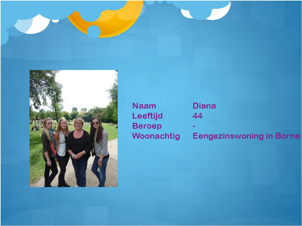 NaamDiana Leeftijd44 Beroep- WoonachtigEengezinswoning in Borne