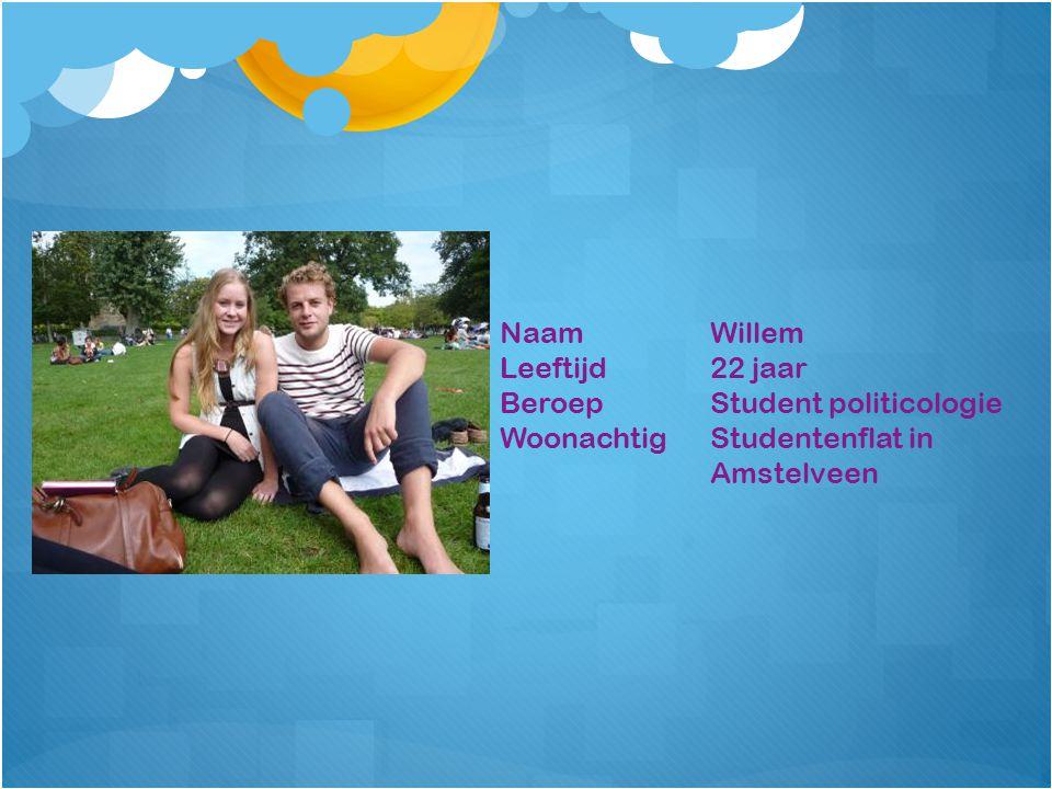 NaamWillem Leeftijd22 jaar BeroepStudent politicologie WoonachtigStudentenflat in Amstelveen