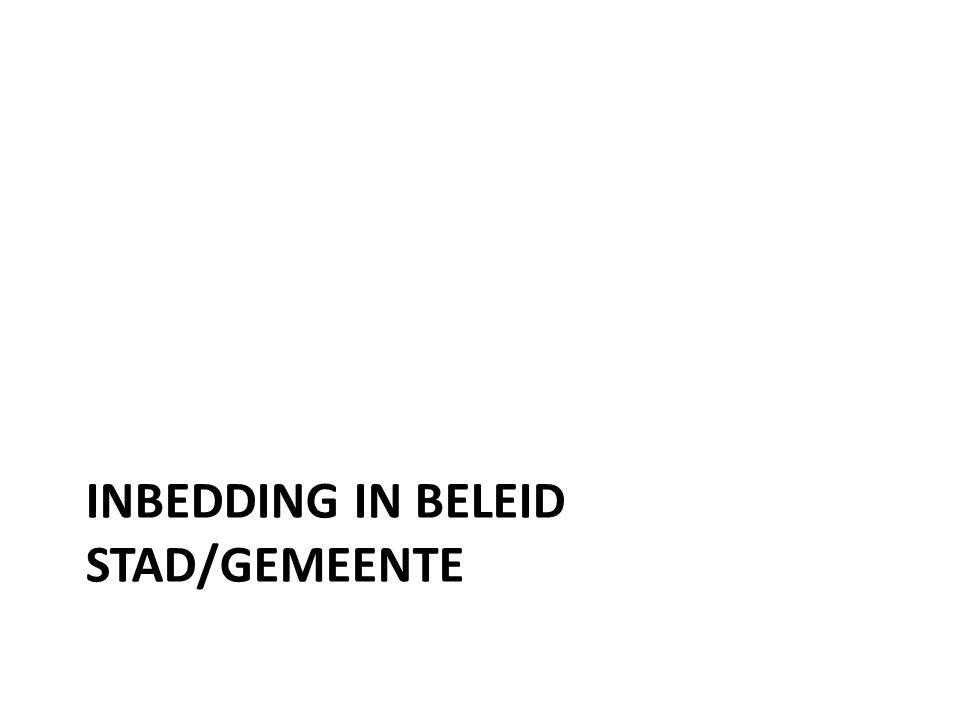 INBEDDING IN BELEID STAD/GEMEENTE
