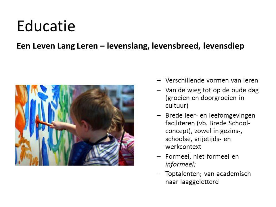 Cultuureducatie Elke vorm van intentionele educatie die een bewuste omgang met cultuur nastreeft in een bewust gehanteerd medium.