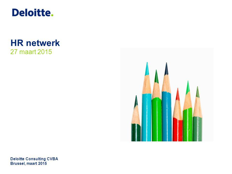 HR netwerk 27 maart 2015 Deloitte Consulting CVBA Brussel, maart 2015