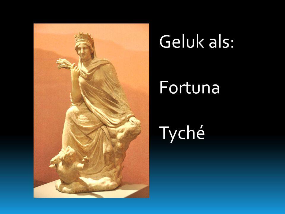 Een definitie van geluk. Gr. Týche, Lat. Fortuna: toevalsgeluk  Gr.