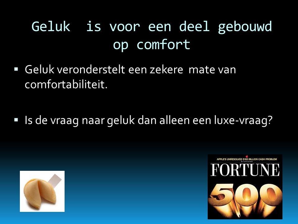 Rijkdom is niet per definitie gelijk aan geluk  Rijkdom beschermt niet tegen ziekte en dood, niet tegen ongeval.