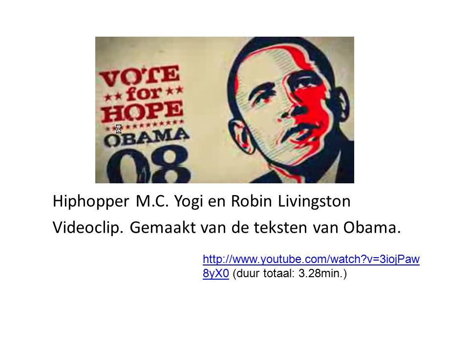 Will I Am van The Black Eyed Peas schreef nummer voor campagne Obama http://nl.youtube.com/ watch?v=jjXyqcx-mYY http://nl.youtube.com/ watch?v=jjXyqcx-mYY Muziek en Obama