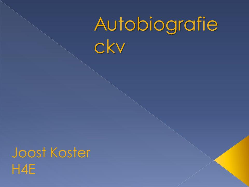 Autobiografie ckv Joost Koster H4E