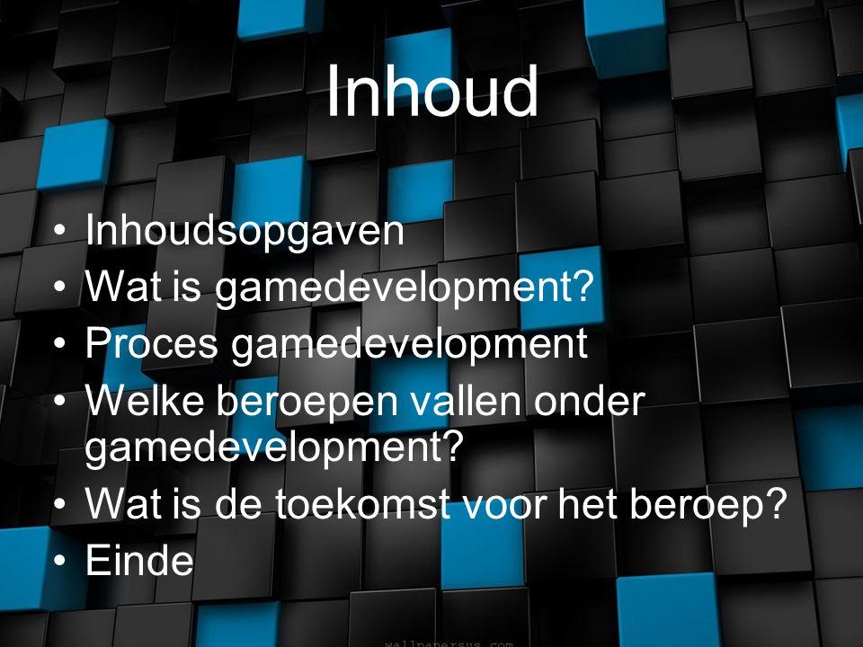 Inhoud Inhoudsopgaven Wat is gamedevelopment.