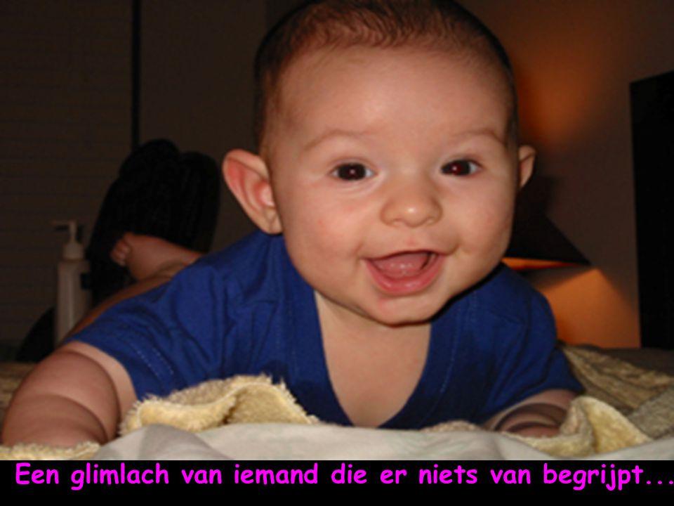 Een glimlach die vol blijheid is...