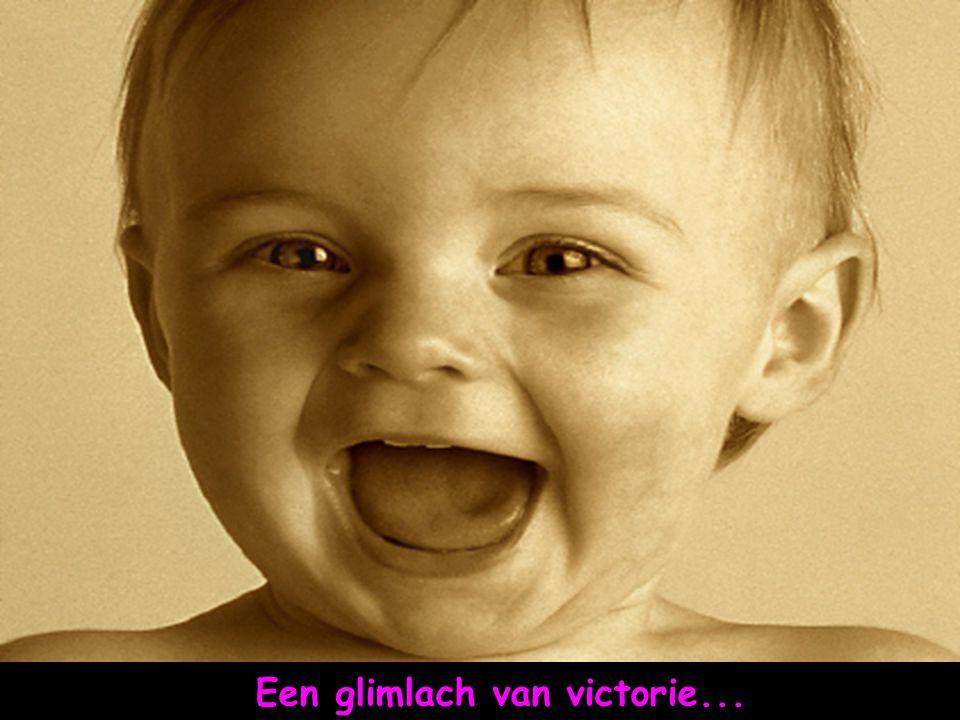 En een glimlach zoals van iemand die zich aan het voorbereiden is hé hé hé...