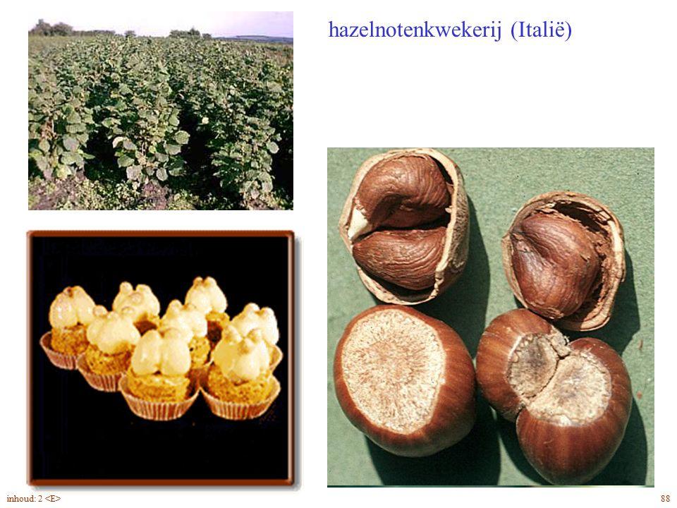Corylus avellana noten vruchthulzen even lang als de noot hazelnotenkwekerij (Italië) 88inhoud: 2