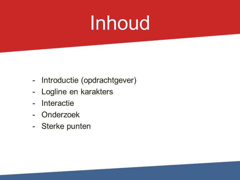 Introductie Opdrachtgever: Tegen Zinloos Geweld Doel: Mensen stimuleren om in te grijpen bij zinloos geweld.