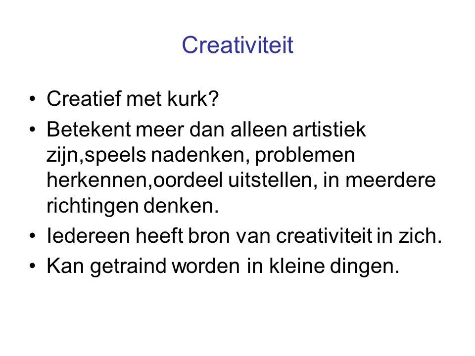 Creativiteit Creatief met kurk.