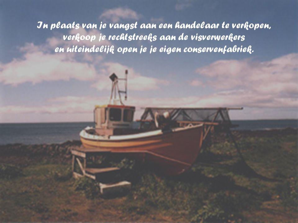 Je moet meer tijd aan het vissen besteden en met de opbrengst een grotere boot kopen, met de opbrengst van de grotere boot kun je meerdere boten kopen