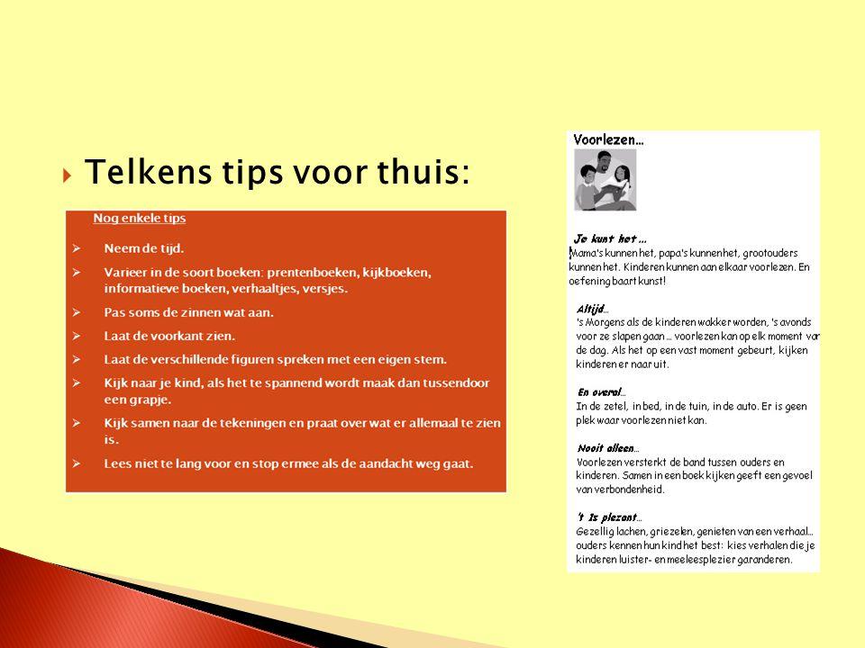  Leren lezen  Huiswerk  Rekenen en contractwerk -> Telkens met een moment in de klas  Nu: K3 en G1 samen ivm de oversstap