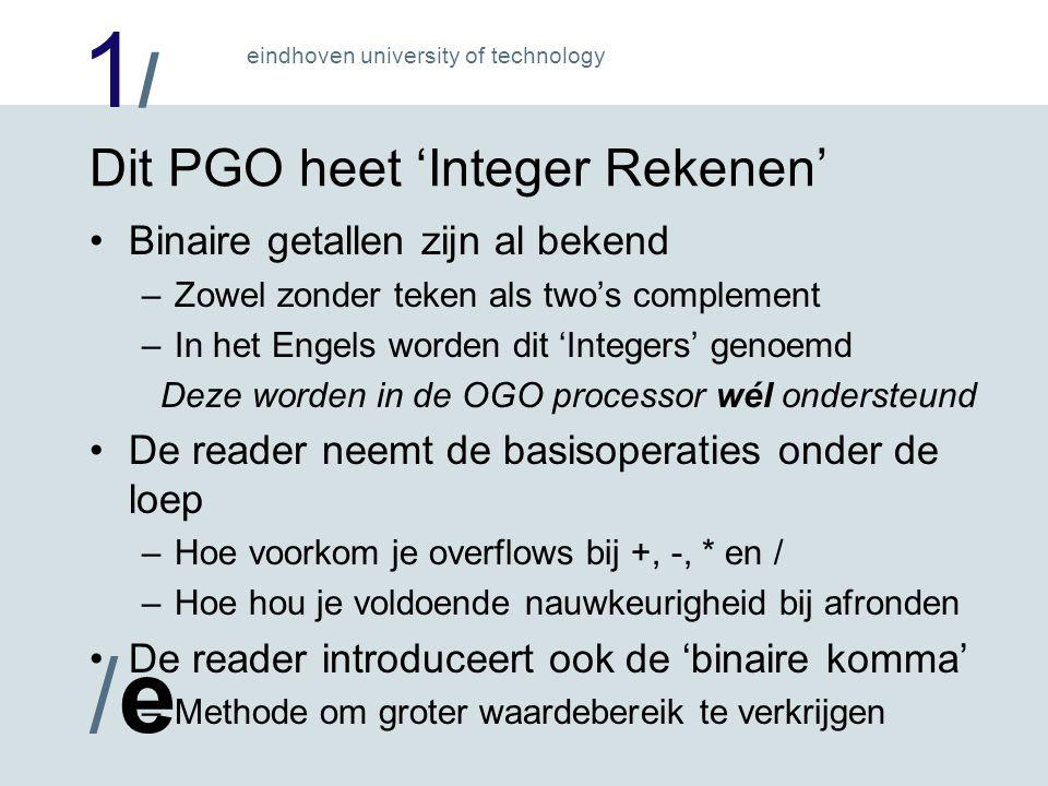1/1/ /e/e eindhoven university of technology Wat is de bedoeling in dit PGO .