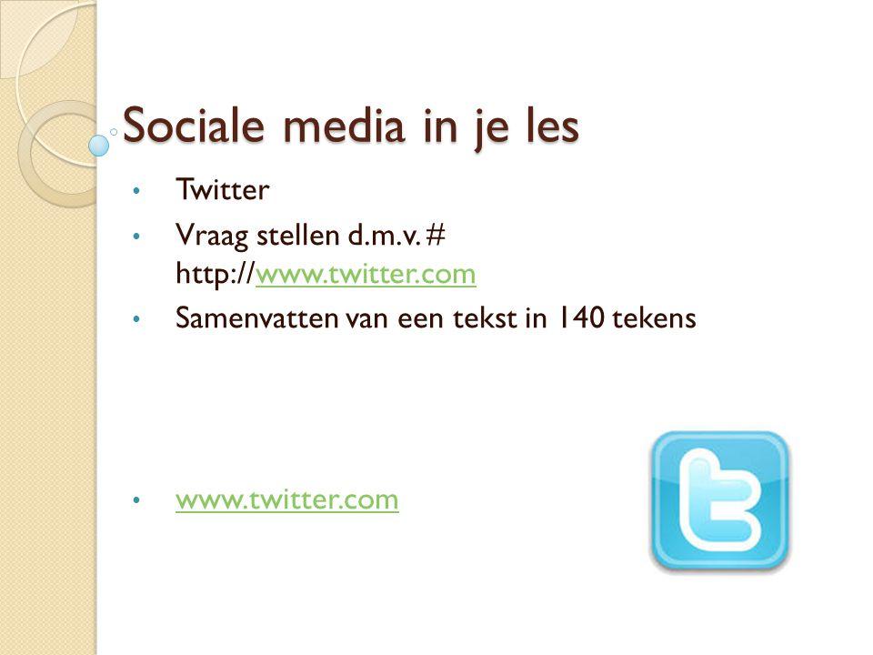 Sociale media in je les Twitter Vraag stellen d.m.v.