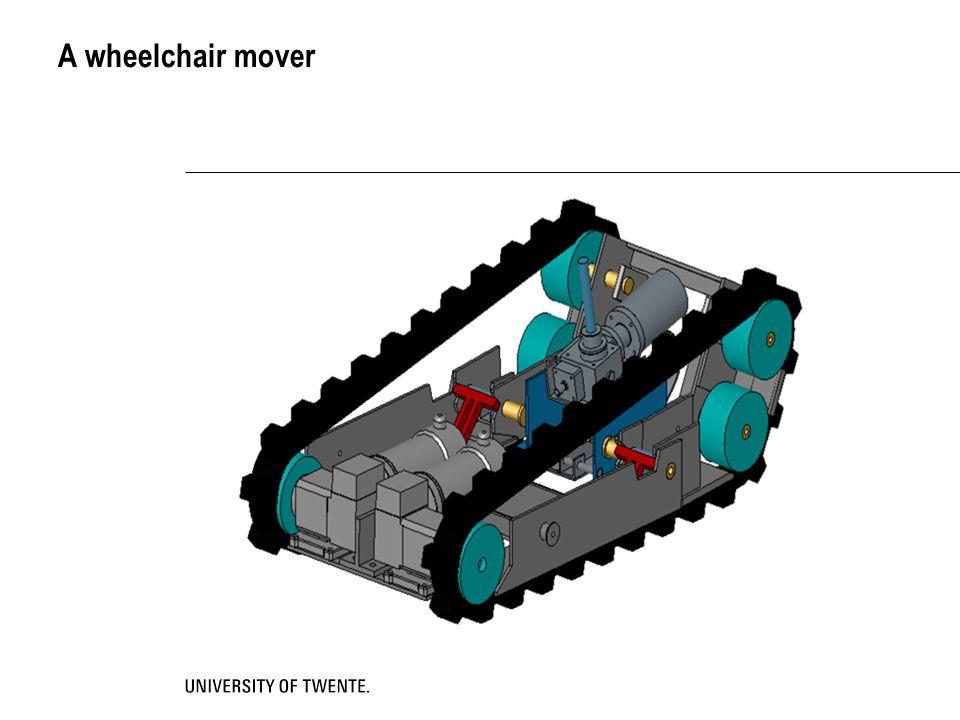A wheelchair mover