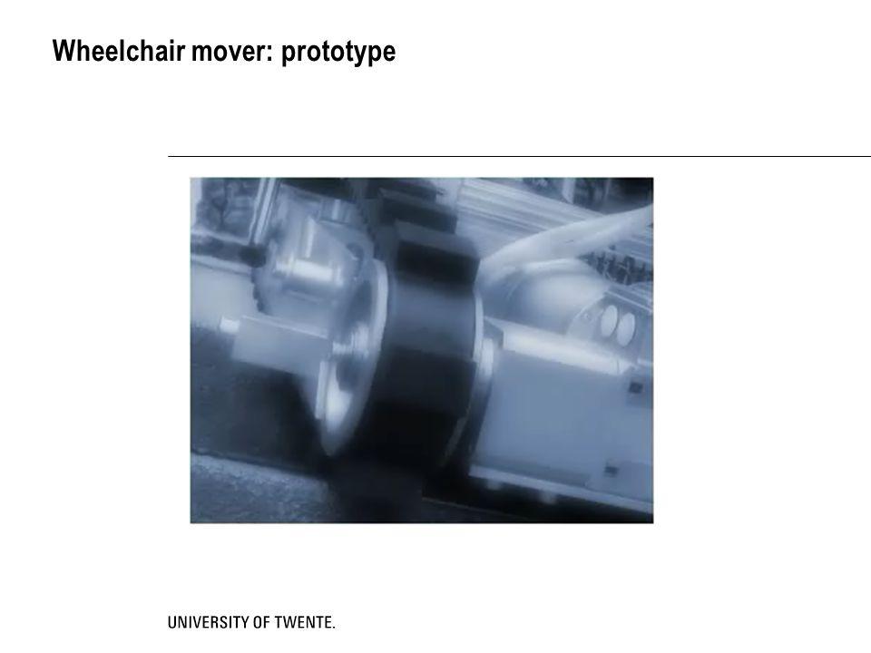 Wheelchair mover: prototype