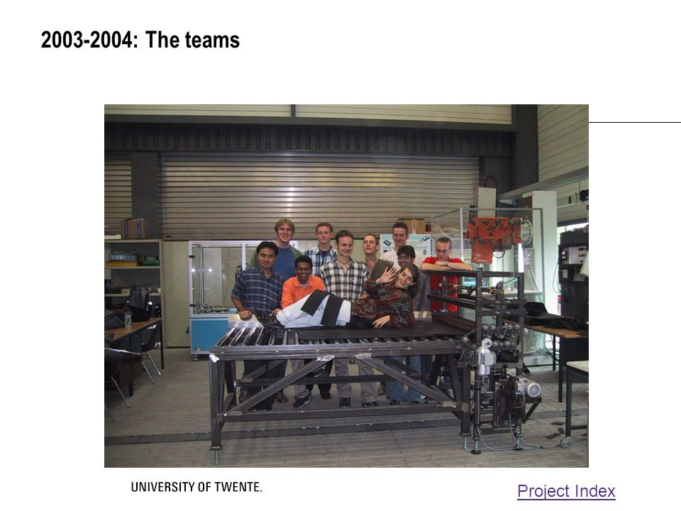 2003-2004: The teams Project Index
