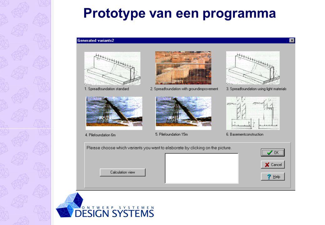 Prototype van een programma