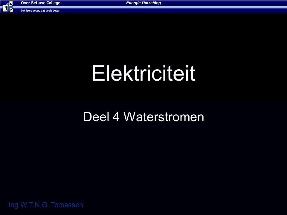 Elektriciteit Deel 4 Waterstromen Energie Omzetting Ing W.T.N.G. Tomassen