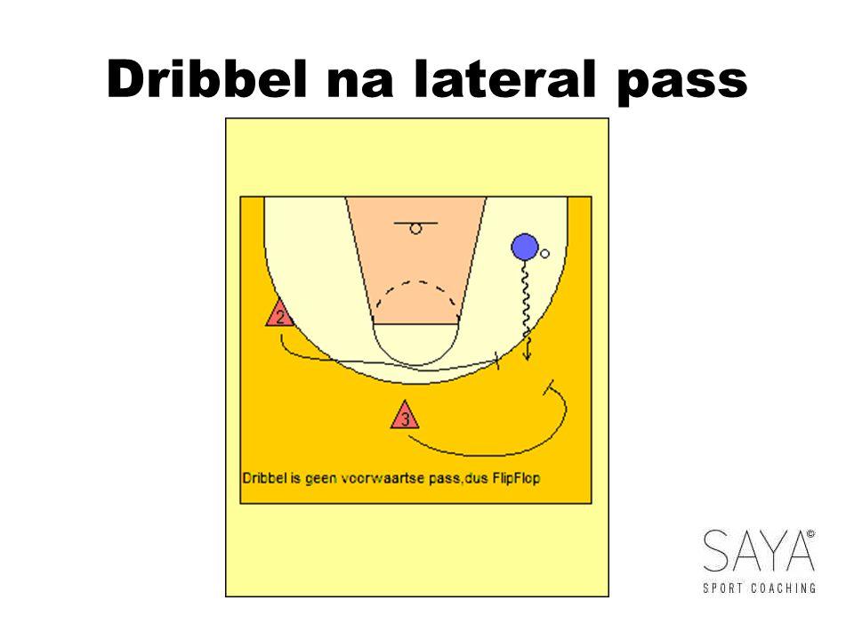 Dribbel na lateral pass