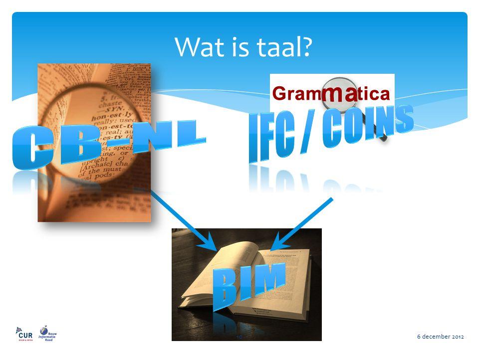 Wat is taal? 6 december 201210