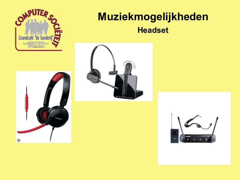 Muziekmogelijkheden Headset