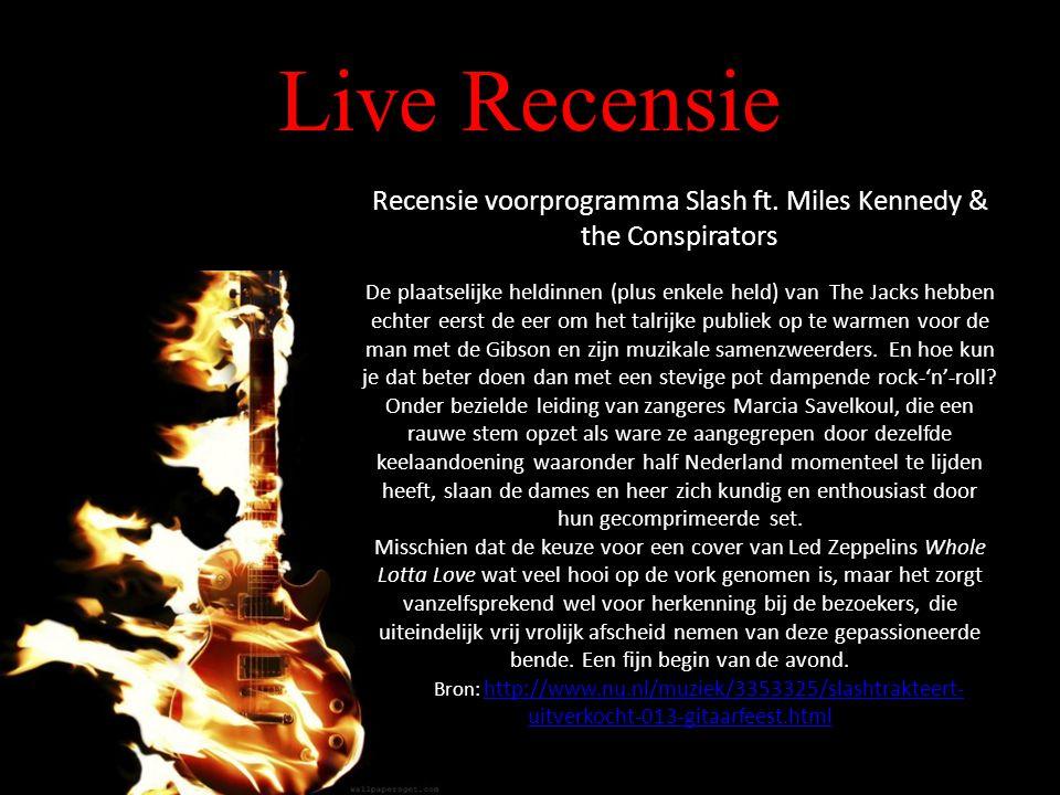 Live Recensie Recensie voorprogramma Slash ft.