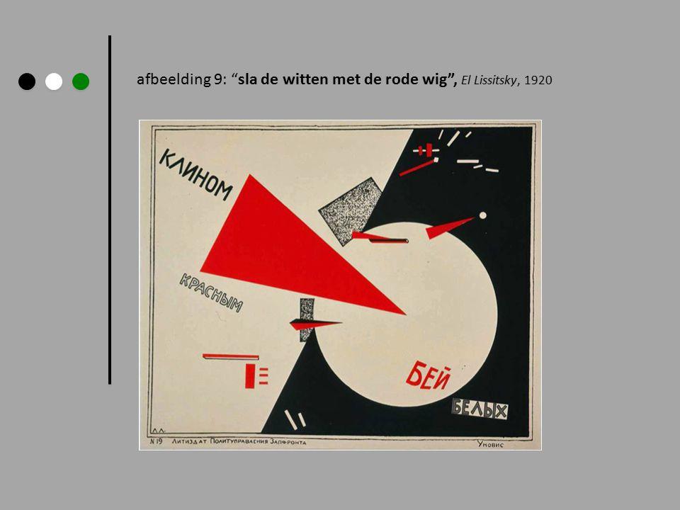 """afbeelding 9: """"sla de witten met de rode wig"""", El Lissitsky, 1920"""