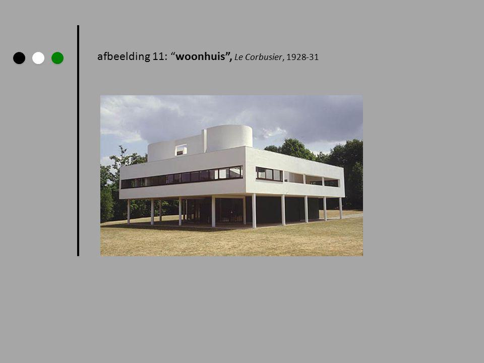 """afbeelding 11: """"woonhuis"""", Le Corbusier, 1928-31"""