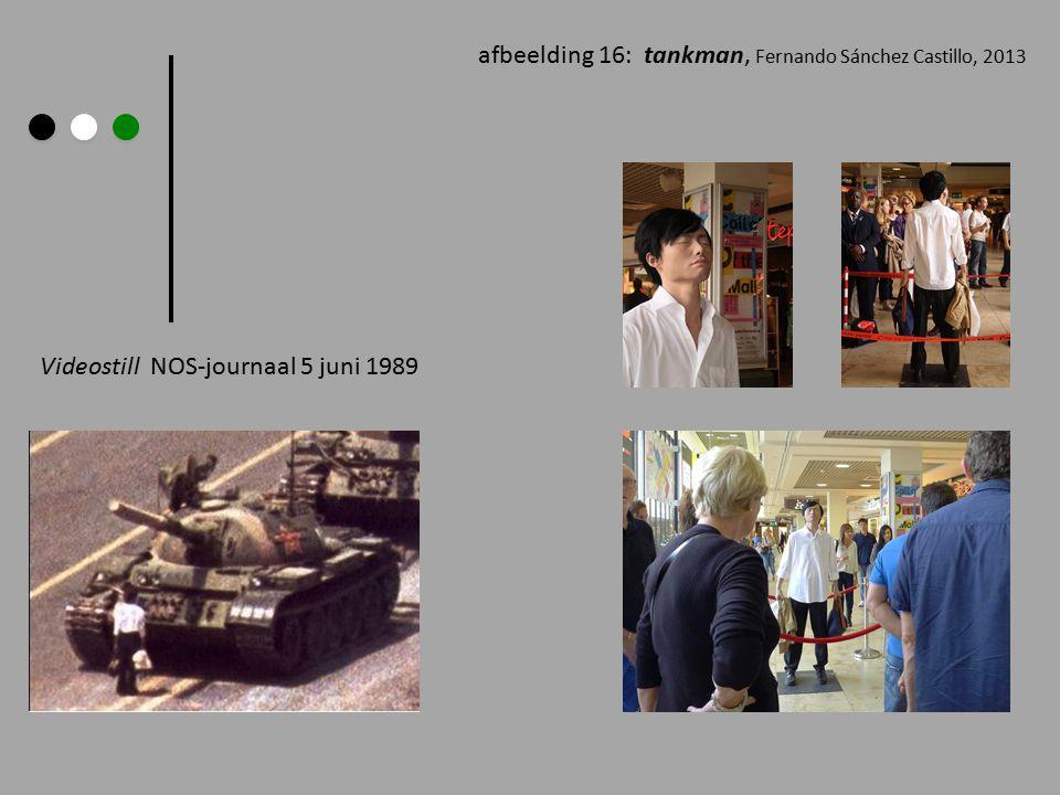afbeelding 16: tankman, Fernando Sánchez Castillo, 2013 Videostill NOS-journaal 5 juni 1989