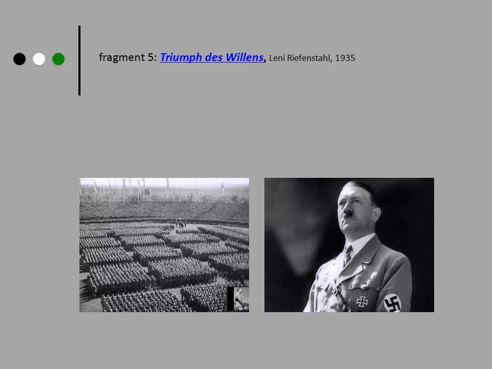 fragment 5: Triumph des Willens, Leni Riefenstahl, 1935Triumph des Willens
