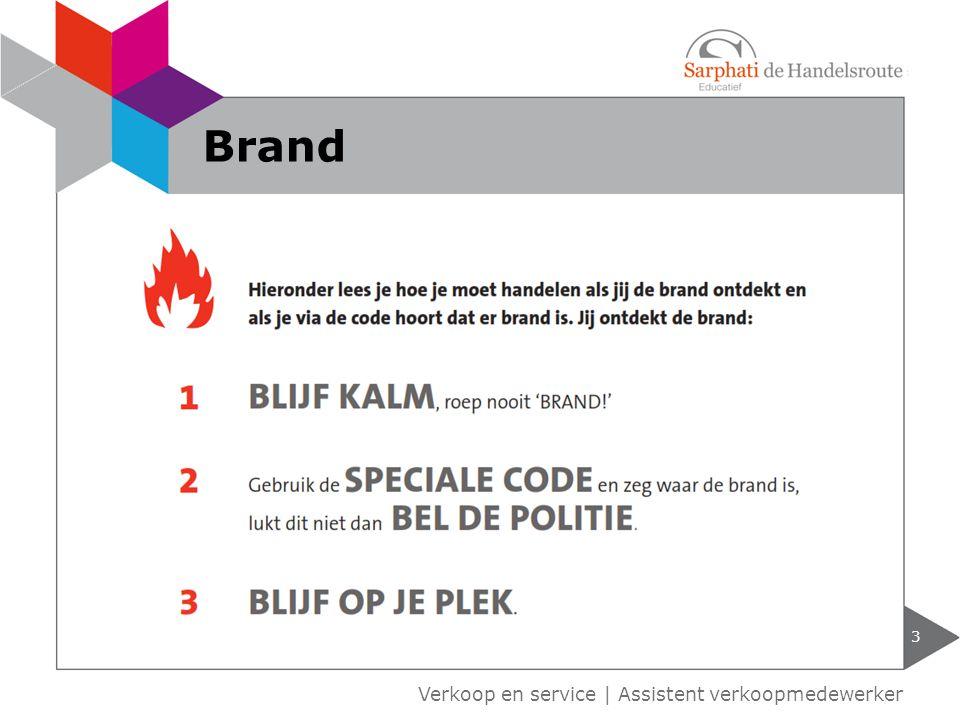 Verkoop en service | Assistent verkoopmedewerker 3 Brand