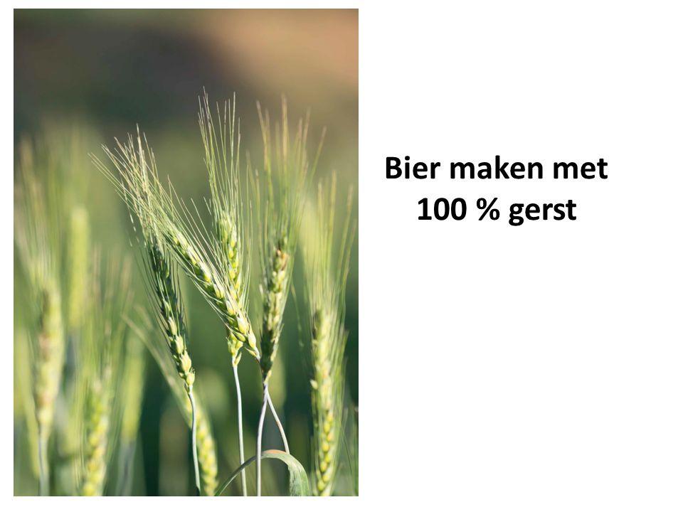 Bier maken met 100 % gerst